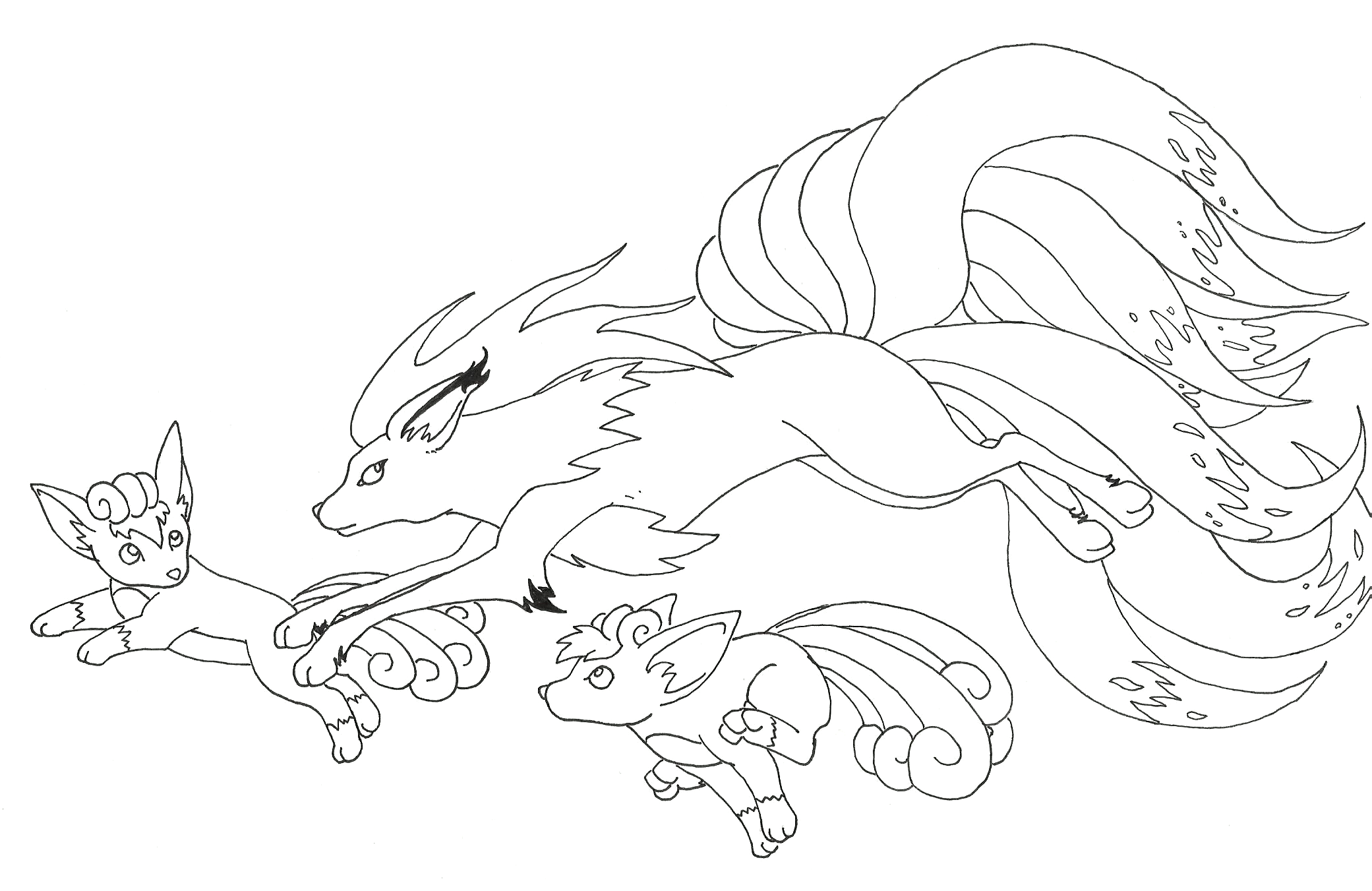 Vulpix Coloring Pages Download And Print For Free Vulpix Coloring Pages