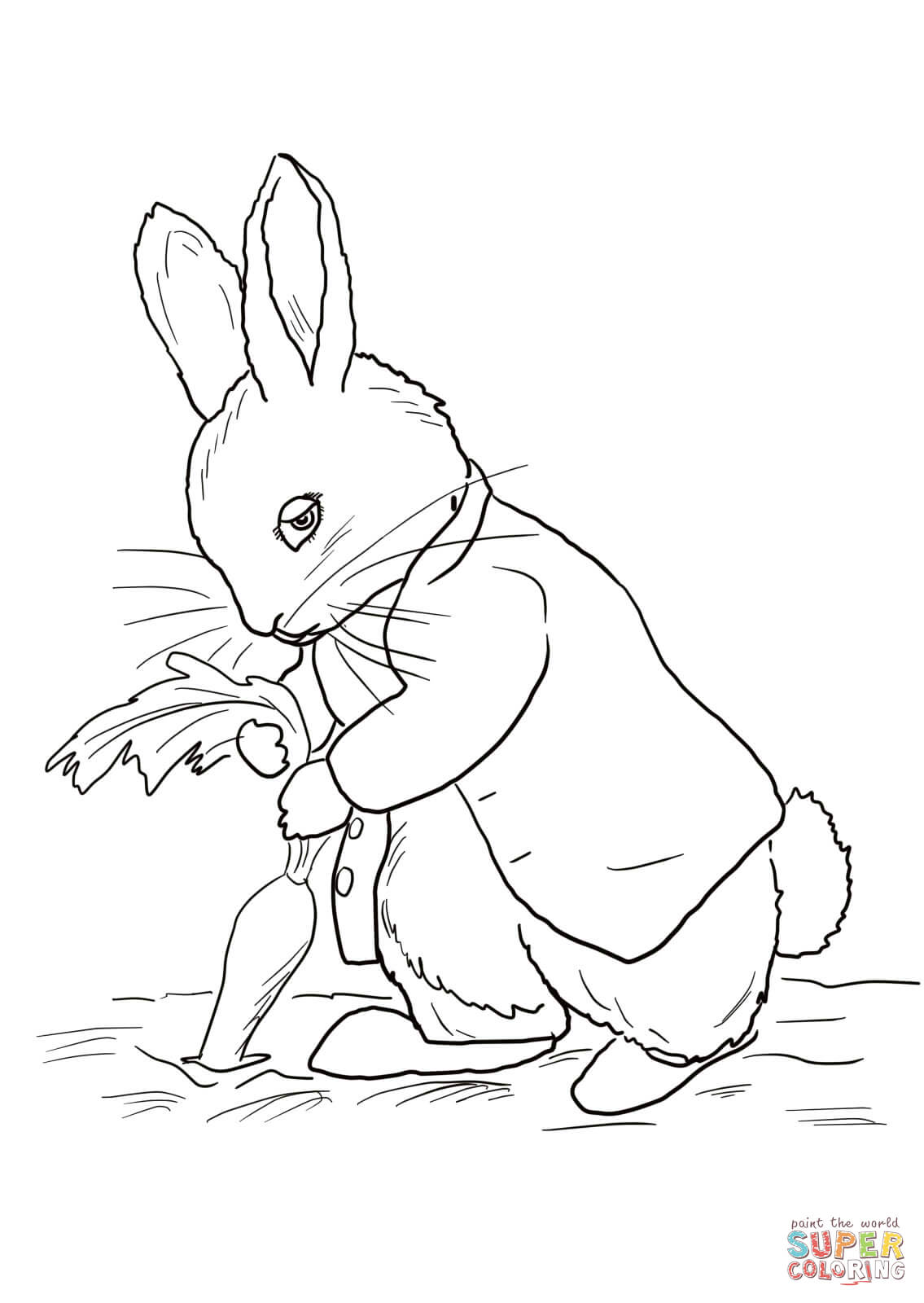 Coloring by numbers for rabbits - Peter Rabbit Coloring Pages