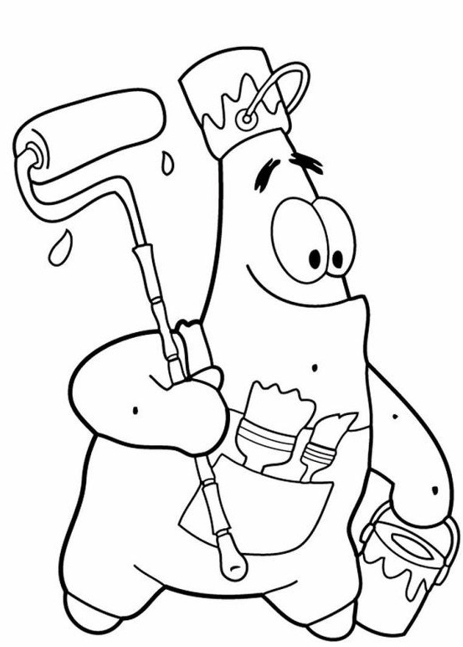 Patrick coloring pages to download and print for free