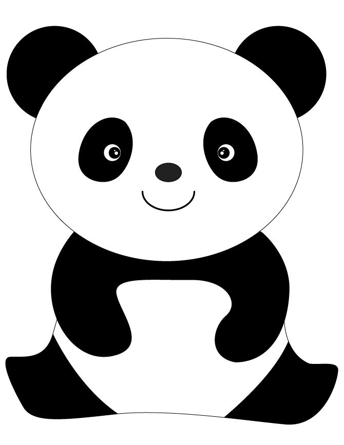 panda bear coloring pages to download and print for free - Panda Pictures To Color