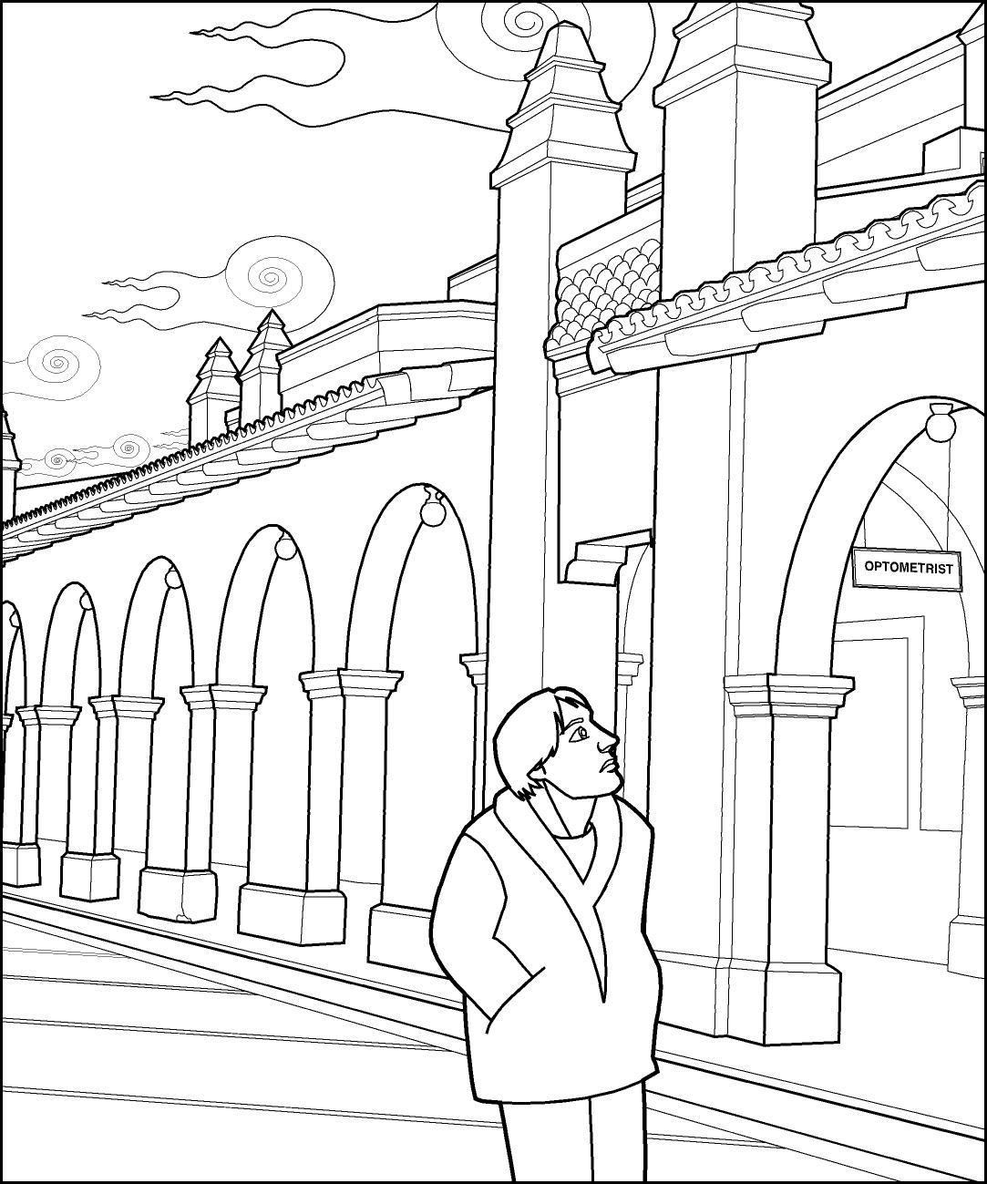 printable illusion coloring pages - photo#4