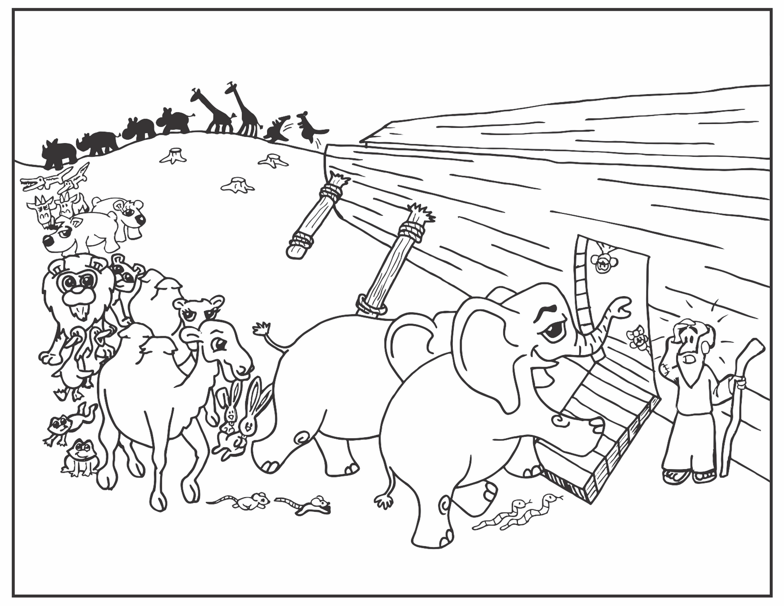 coloring pages noahs ark - photo#22