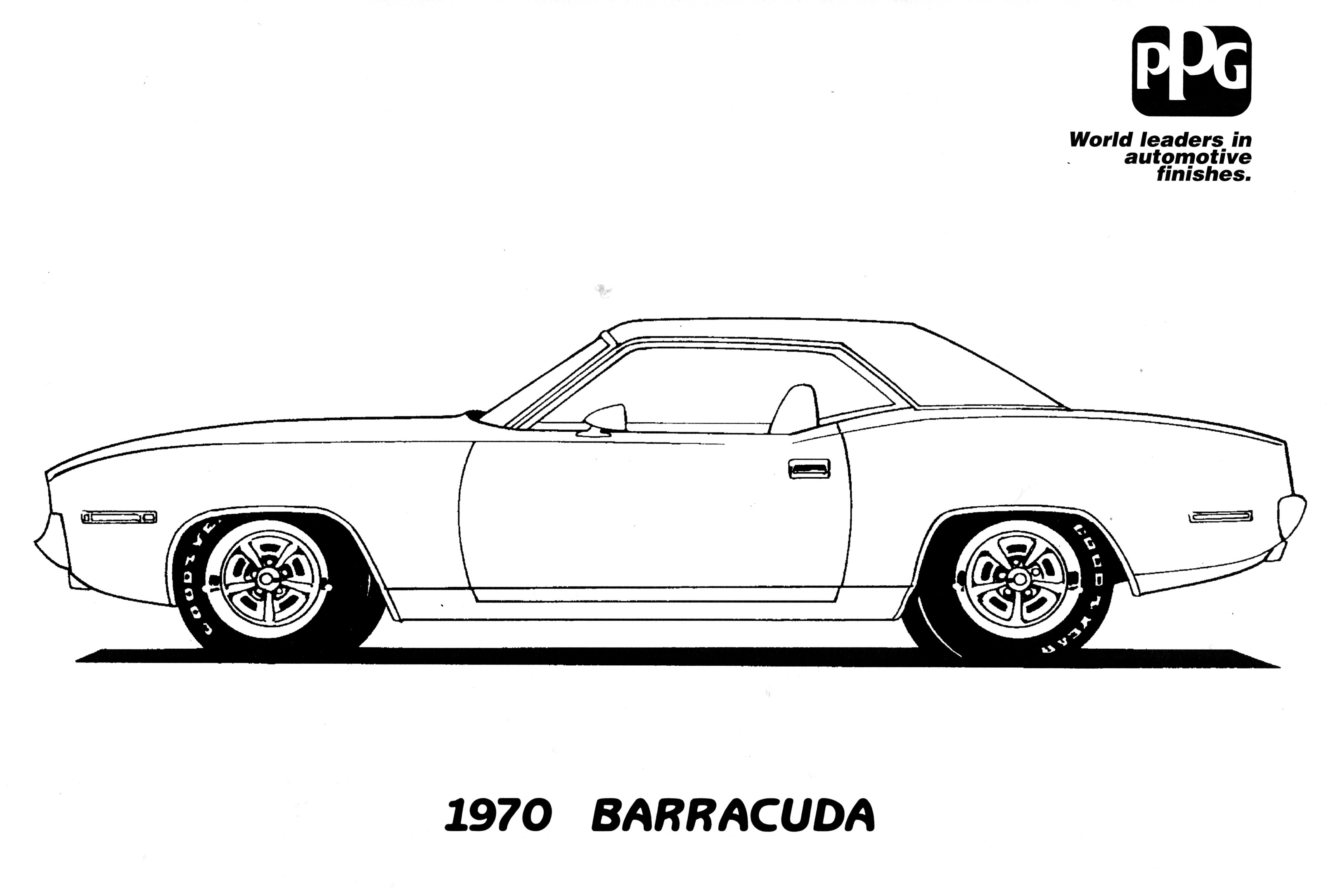 Antique cars coloring pages - Muscle Car Coloring Pages