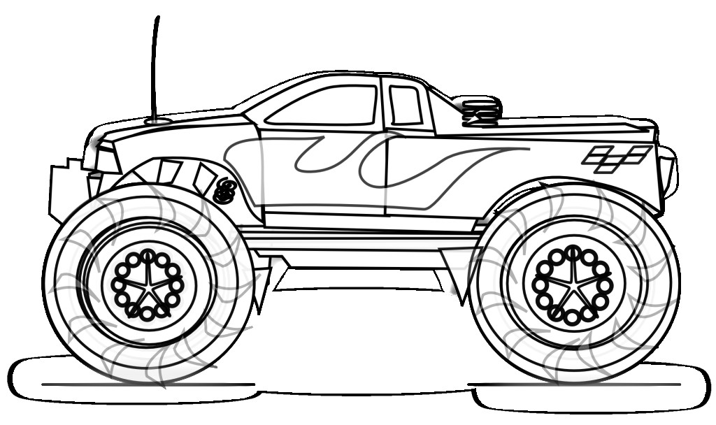 Monster truck coloring pages to download and print for free