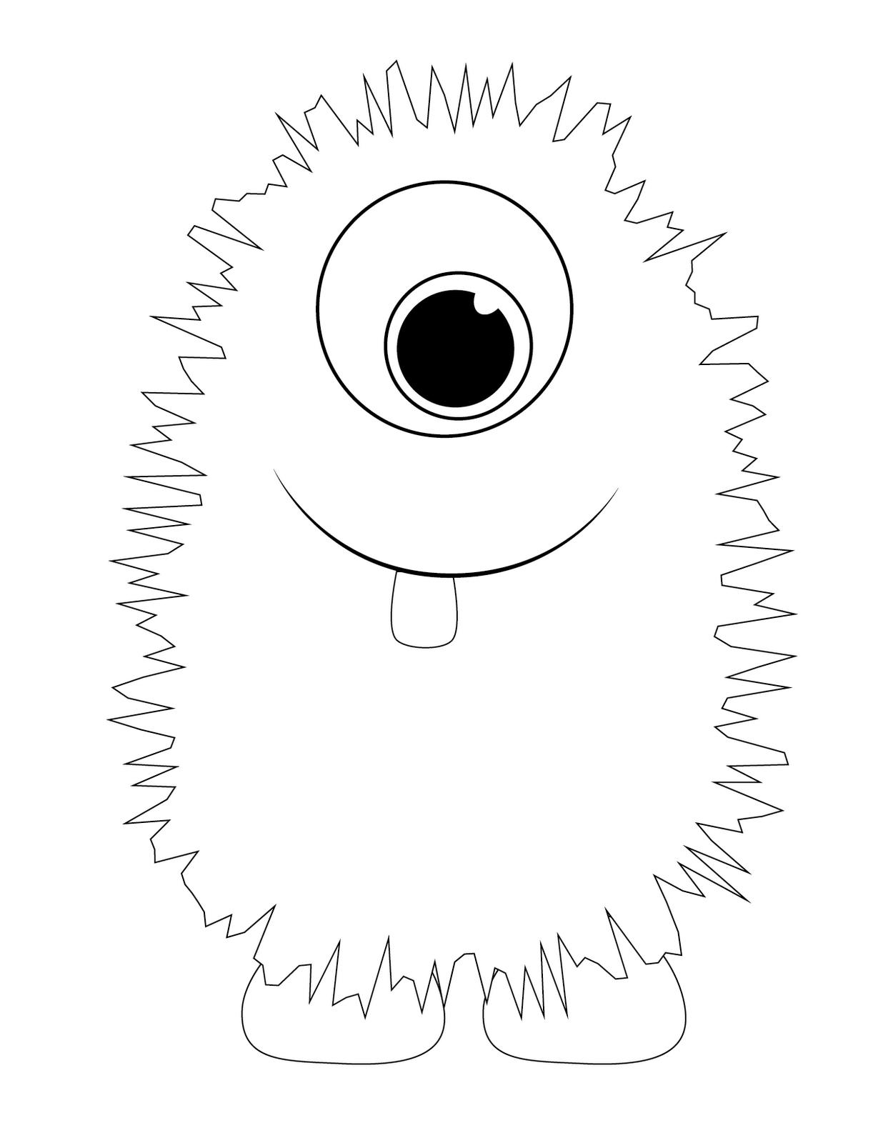 monster coloring pages - Monster Coloring Pages