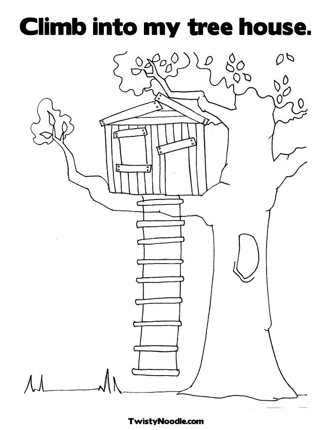 Magic House Coloring Pageshouseprintable Coloring Pages Free - treehouse coloring sheets