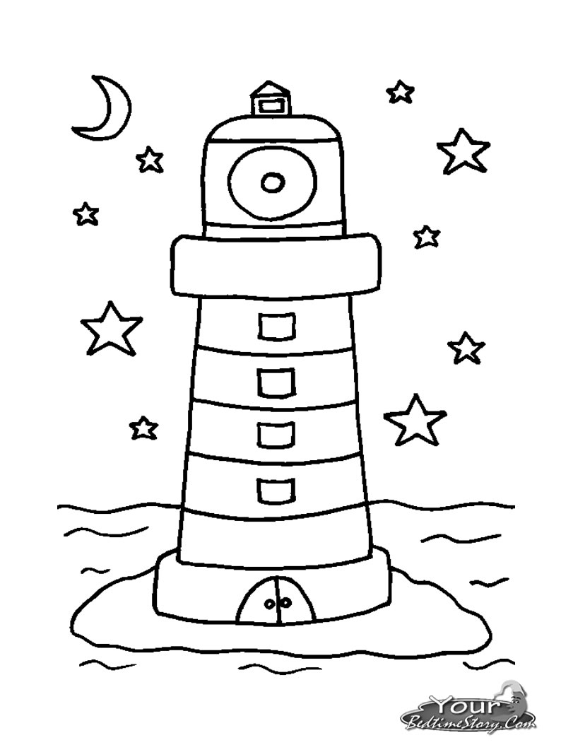 Lighthouse coloring pages to download