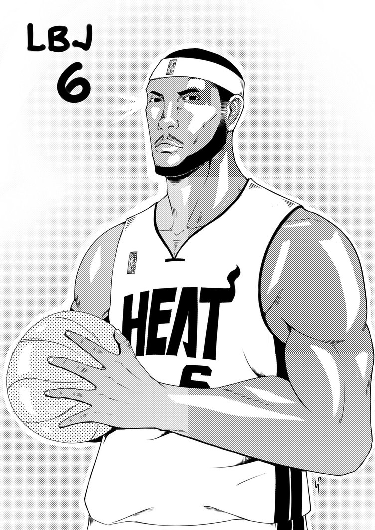 Lebron james coloring pages to