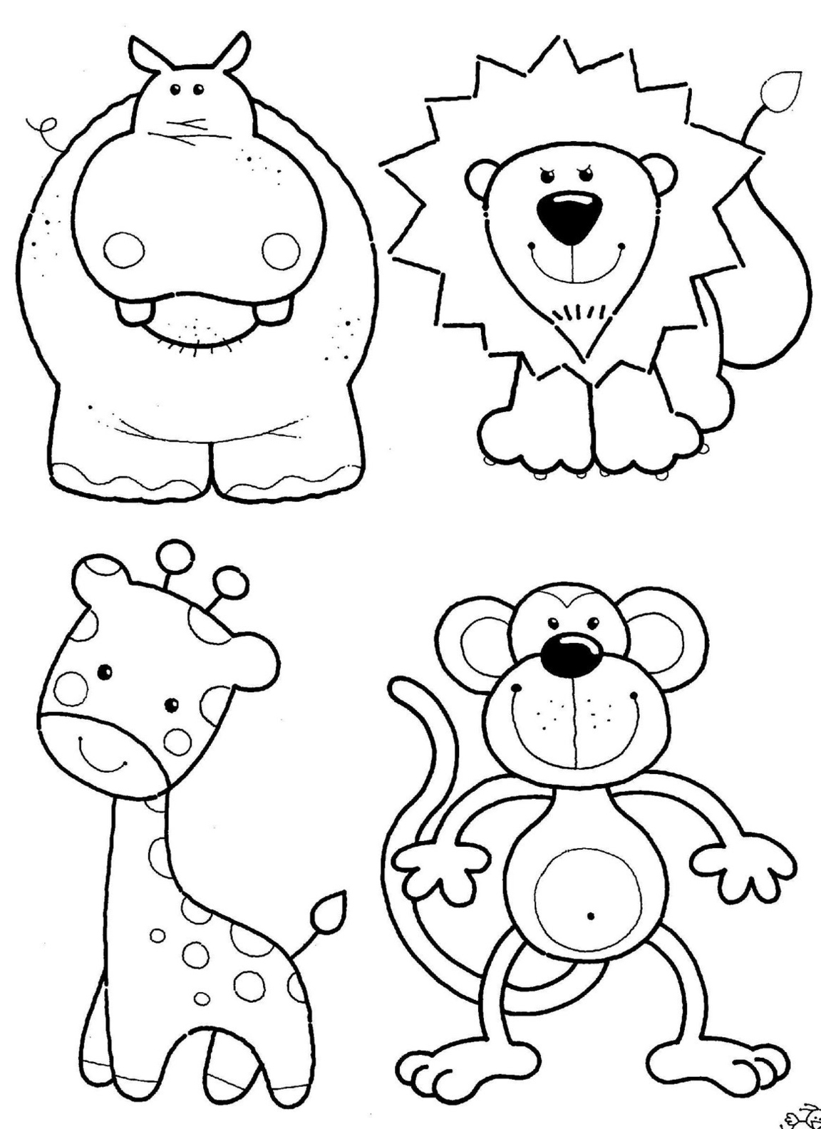 safari animals coloring pages - photo#5