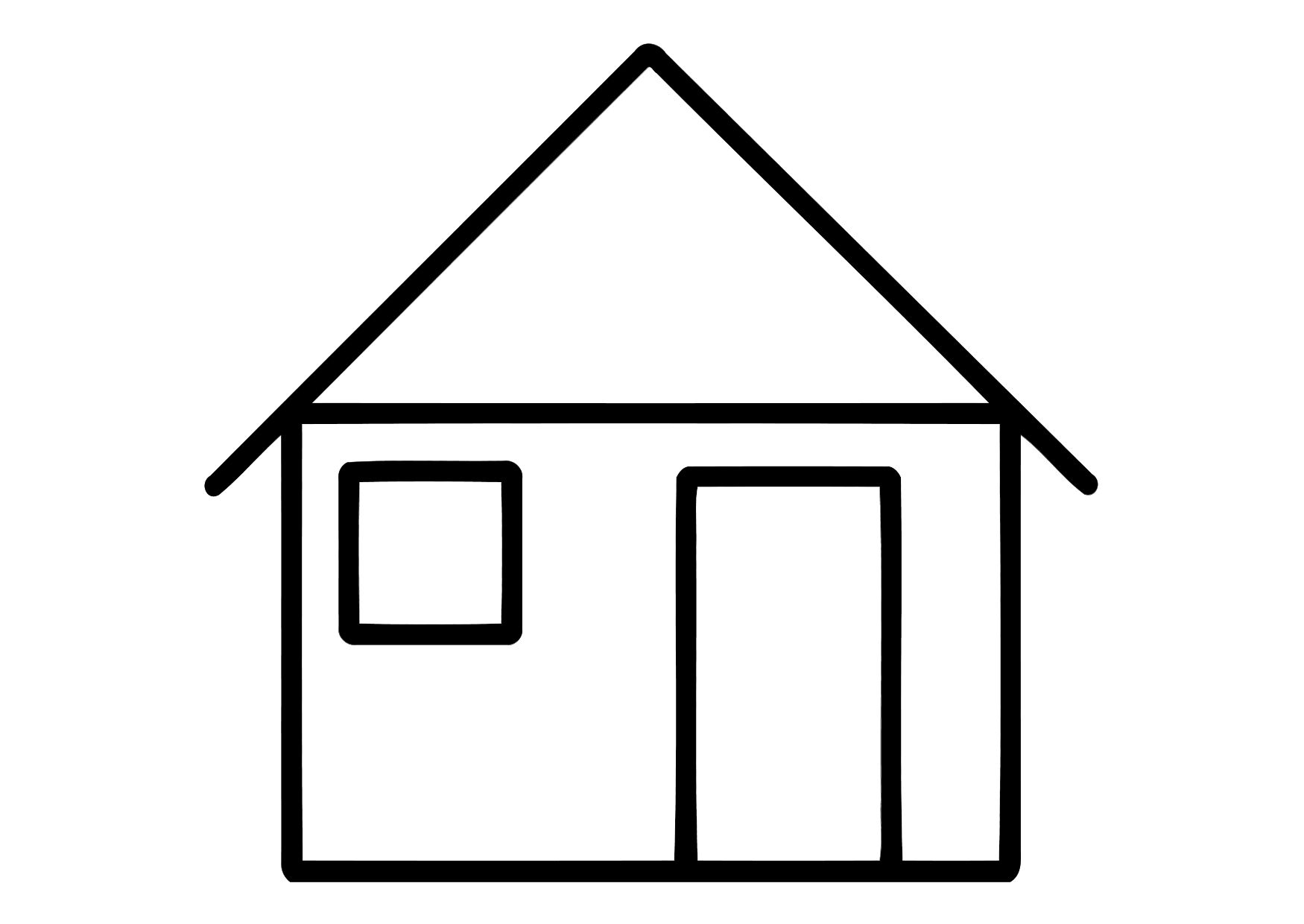 House coloring pages to download