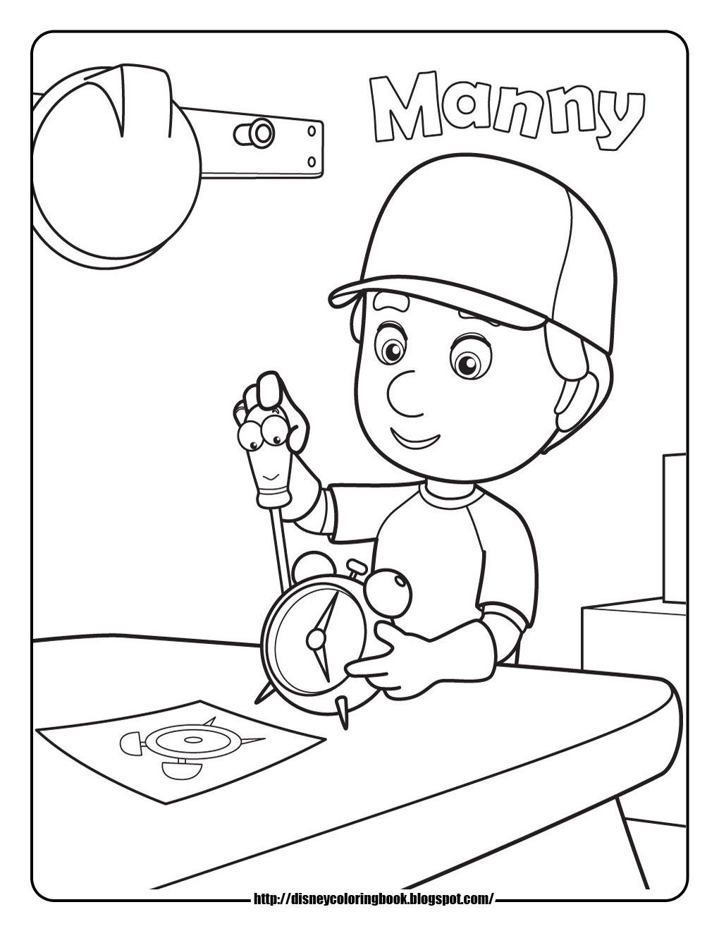 handymanny coloring pages - photo#23
