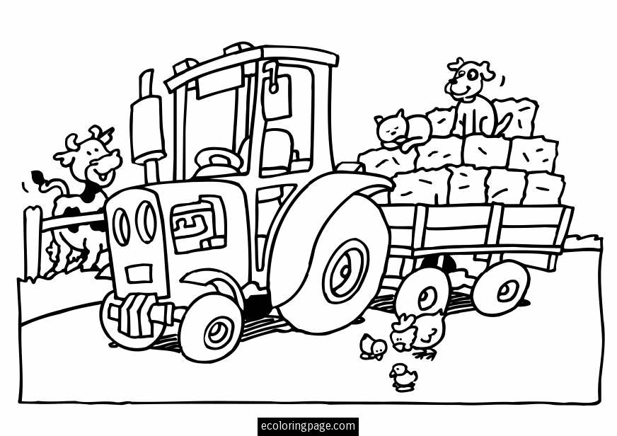 Tractor Coloring Pages - Photos Coloring Page Ncsudan.Org