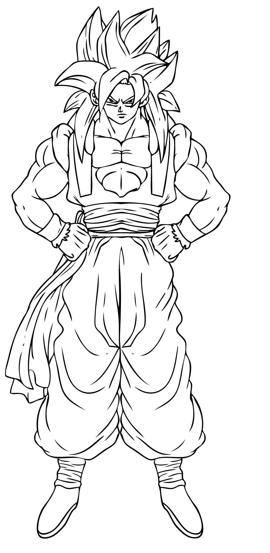 Goku coloring pages to download and print for free - Dessin sangoku ...