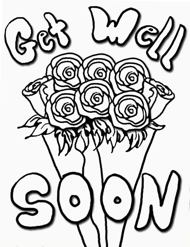 get well cards coloring pages - photo#32