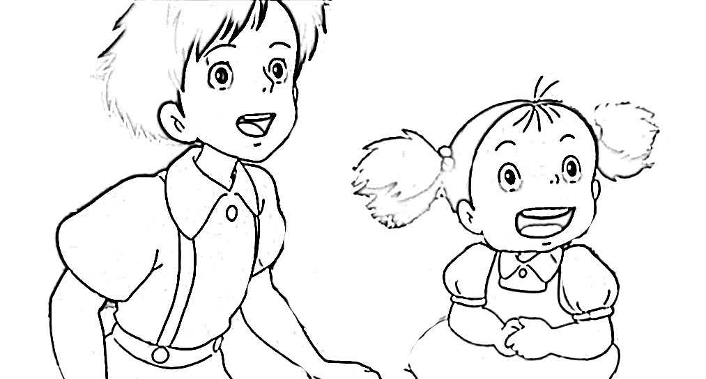 ponyo coloring pages to print - totoro coloring pages to download and print for free
