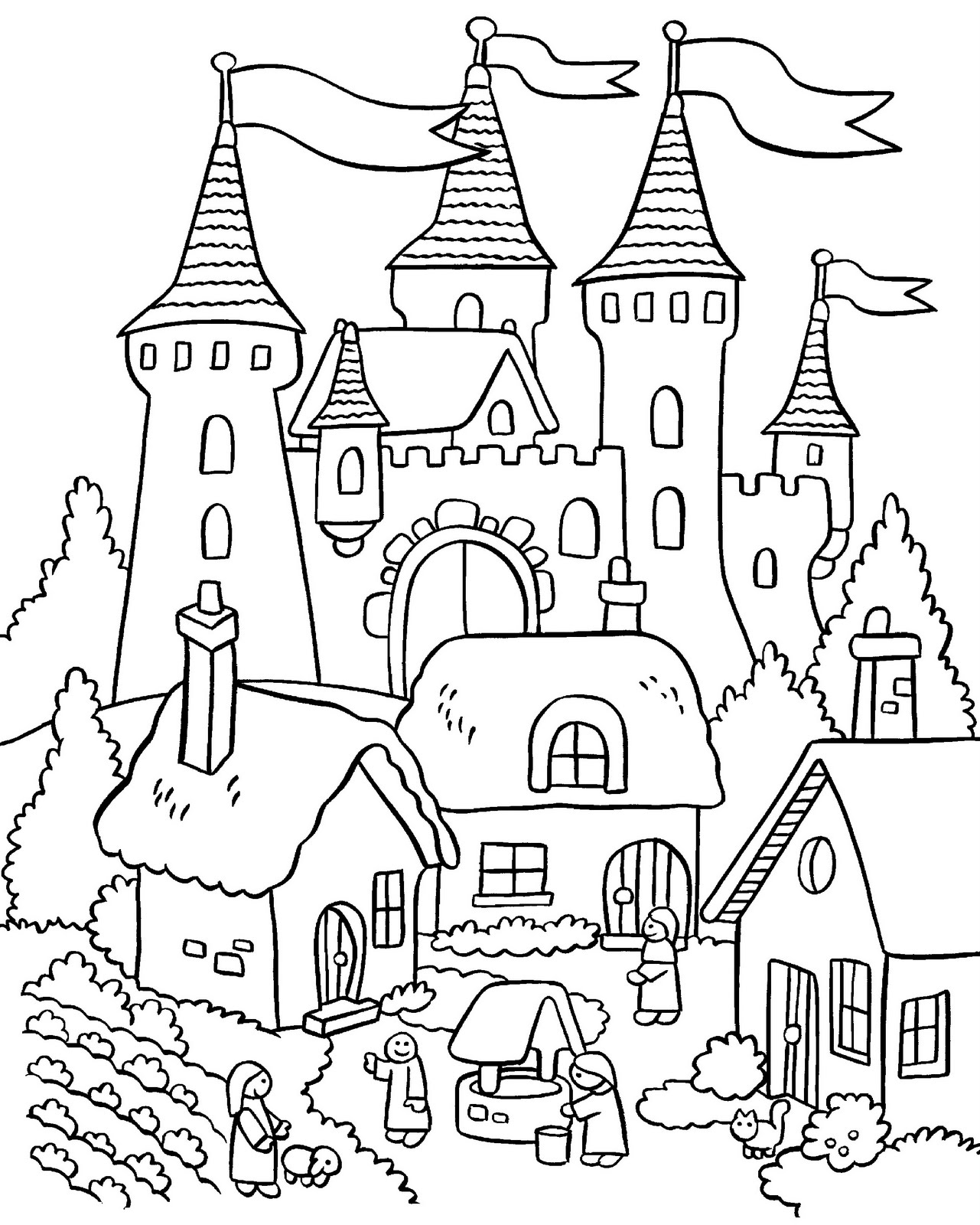 Garden coloring pages to download and print for free for Garden coloring page