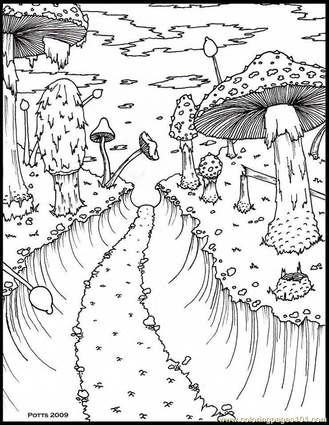 forest of trees coloring pages - photo#34