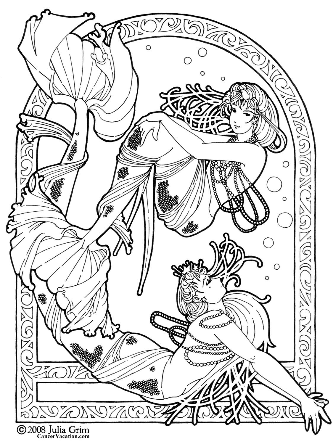Fantasy coloring pages to download and print for free for Mythical coloring pages for adults