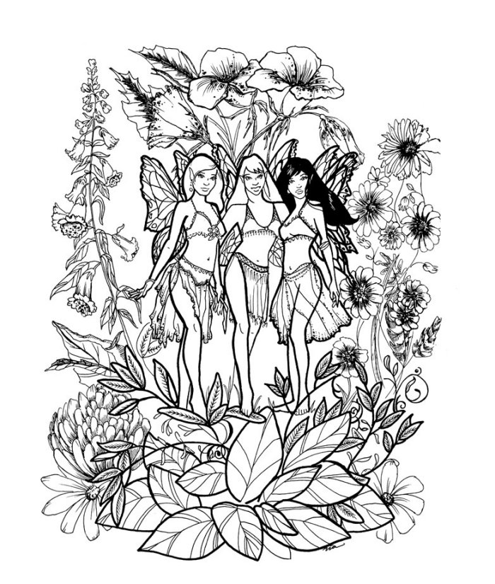 free online fairy coloring pages - photo#13