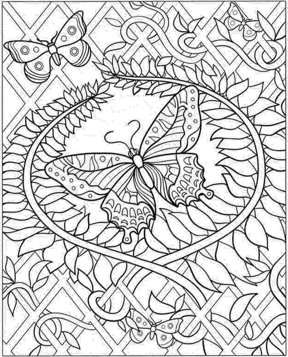 Intricate coloring pages for adults to download and print for Adult color pages