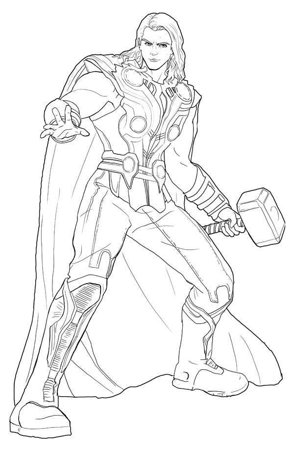 Thor coloring pages to download and print for free - Dessin de thor ...