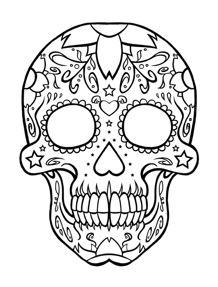 Dia De Los Muertos Coloring Pages To Download And Print Dia De Los Muertos Coloring Pages