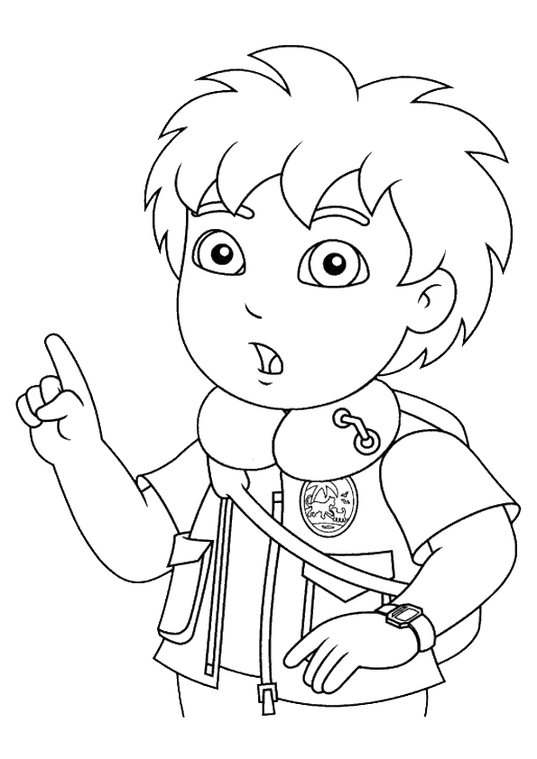 Go diego go coloring pages to download