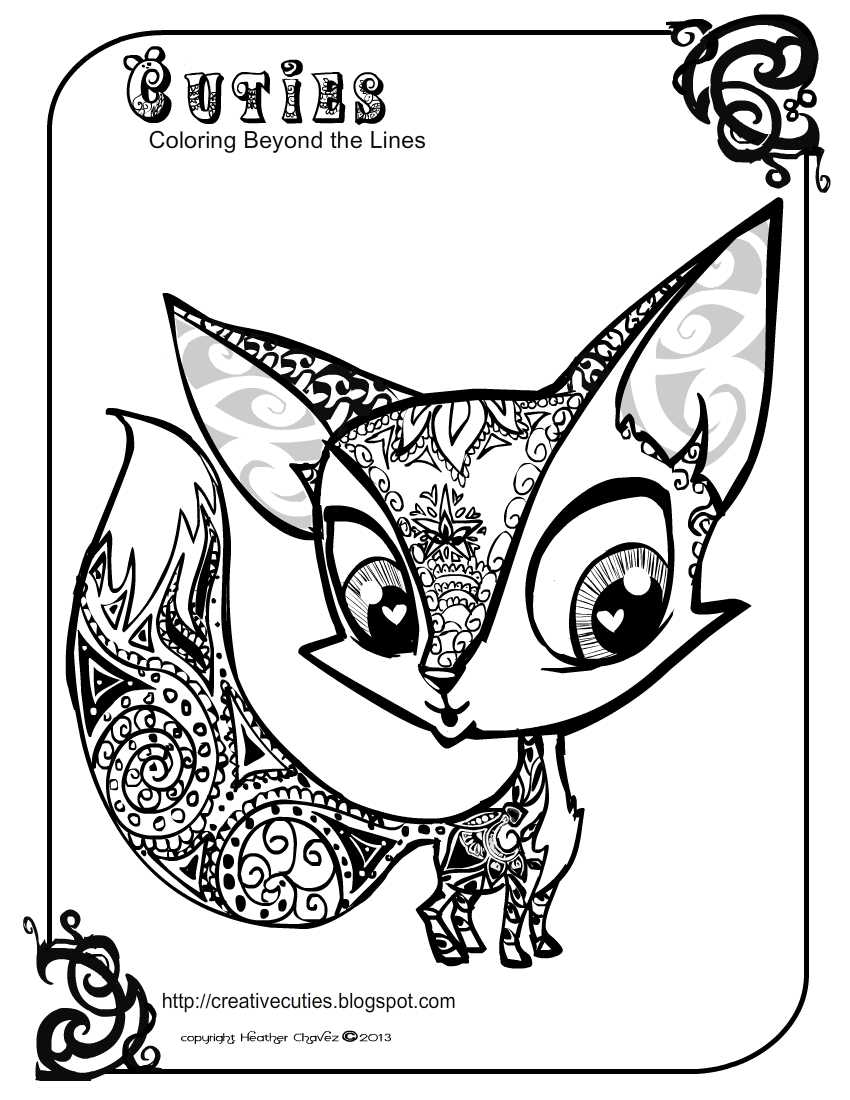 Cutie coloring pages to download