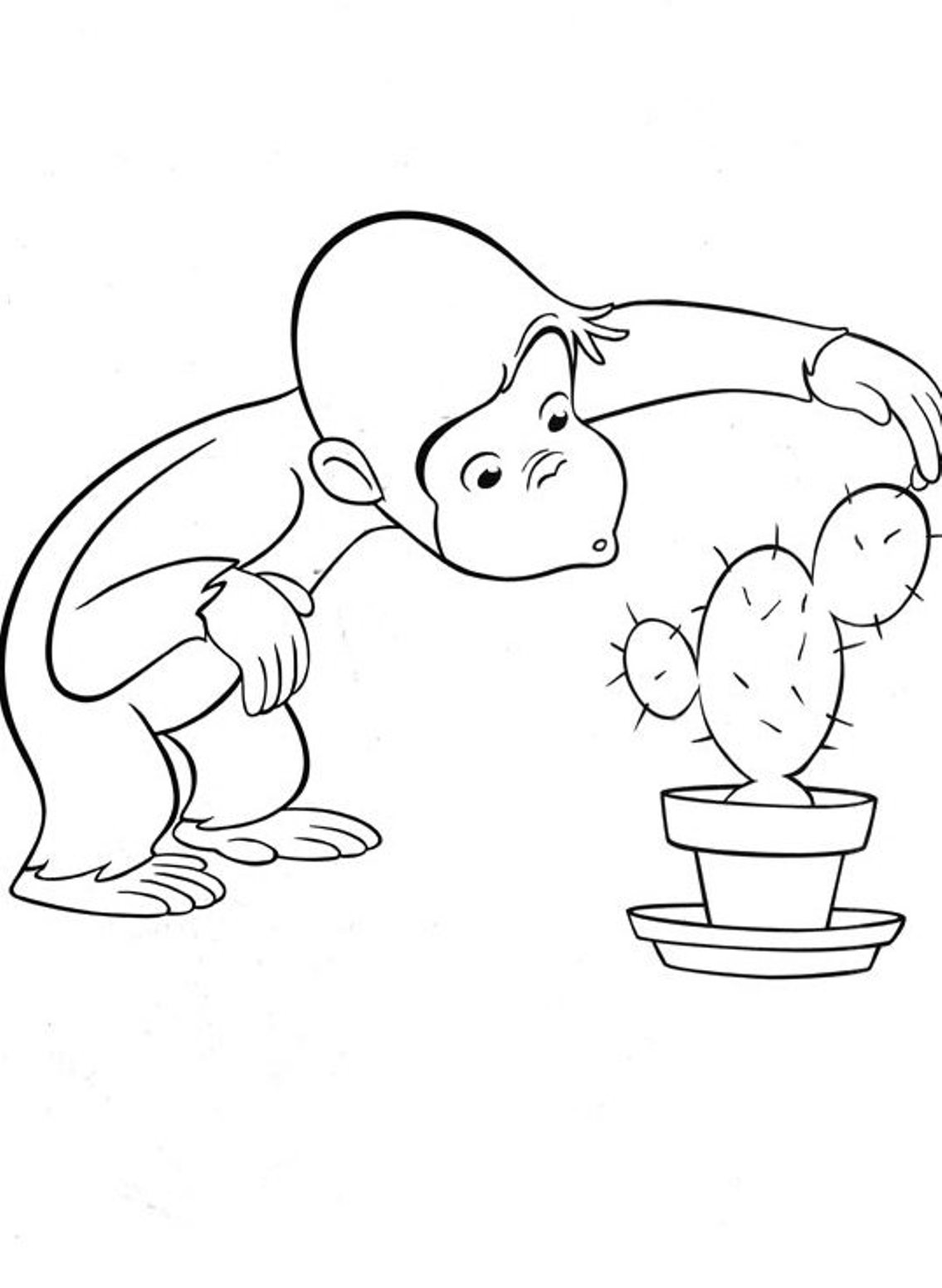Adult Best Curious George Coloring Pages Printable Gallery Images cute curious george coloring pages to download and print for free images