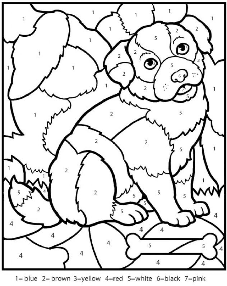color by number coloring pages - Free Color Pages For Kids