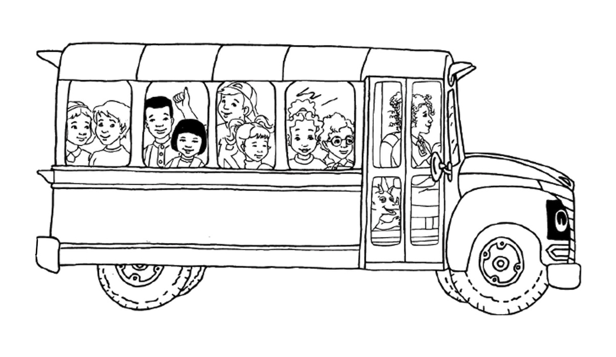 coloring pages bus - photo#22