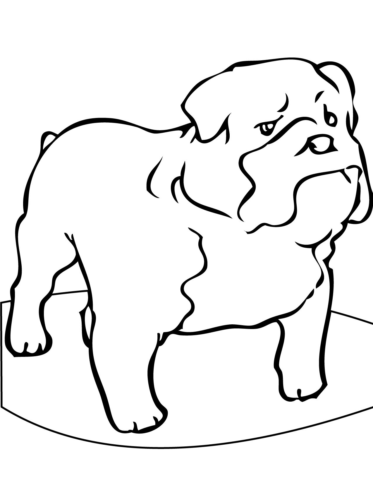 bulldog coloring book pages - photo#36