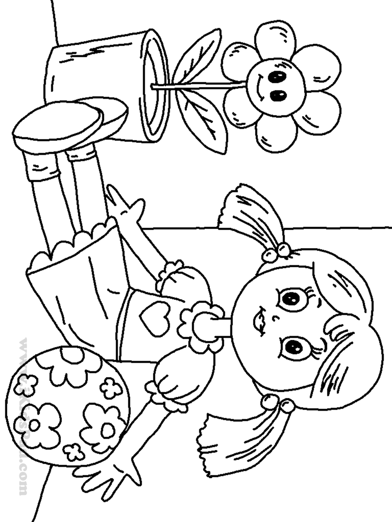 coloring pages of dolls - photo#17