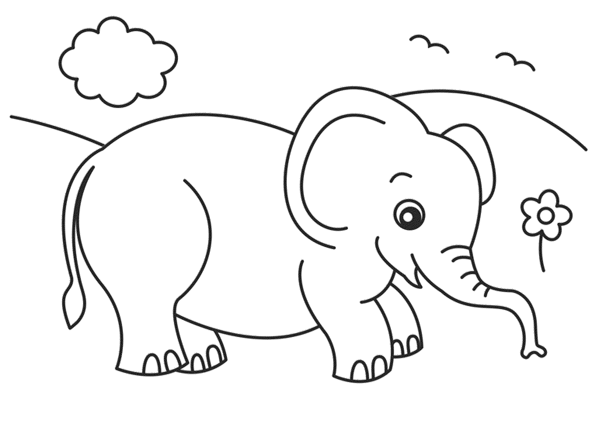 baby elephant coloring pages print - photo#17