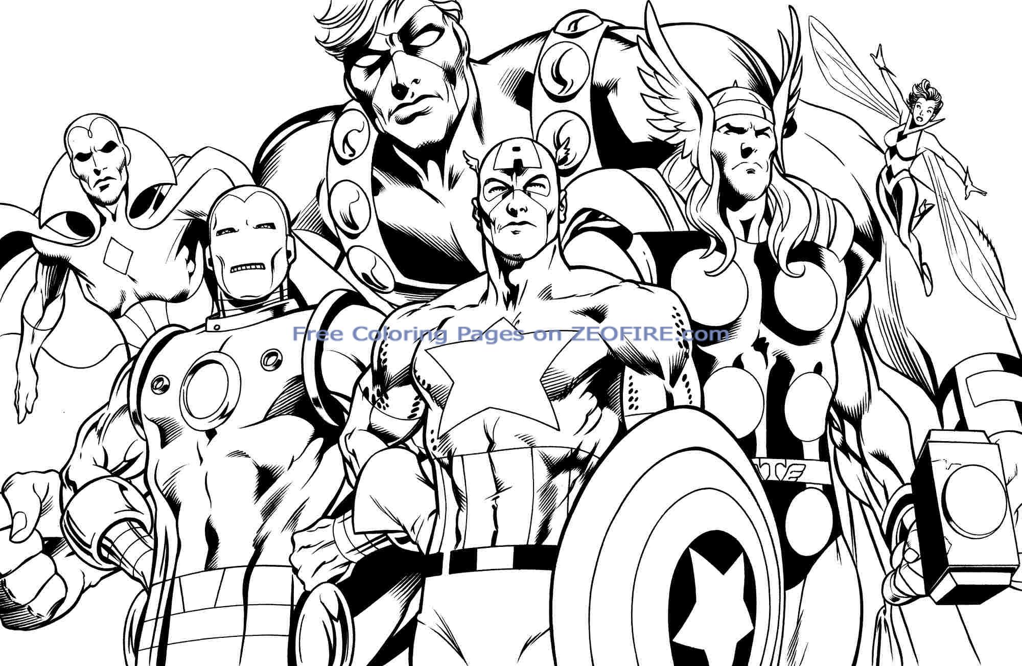 avengers coloring pages a400 - photo#25