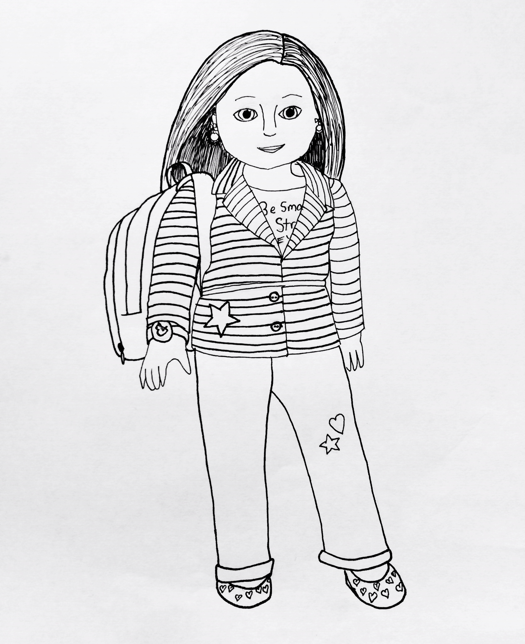 American girl doll coloring pages to download and print for Girls coloring pages to print