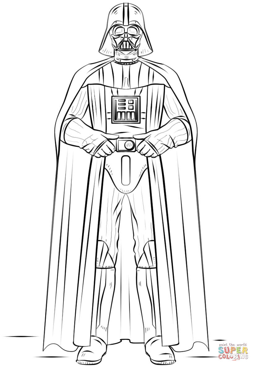 Darth vader coloring pages to download