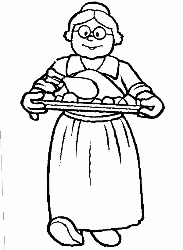 grandma coloring pages printable - photo#7