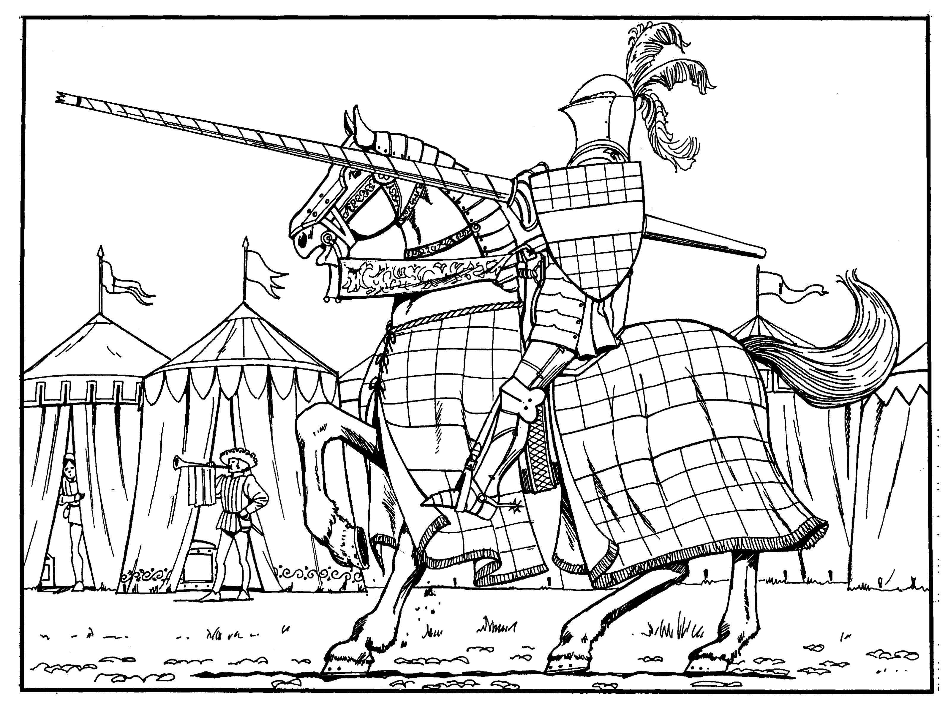Medieval coloring pages to download