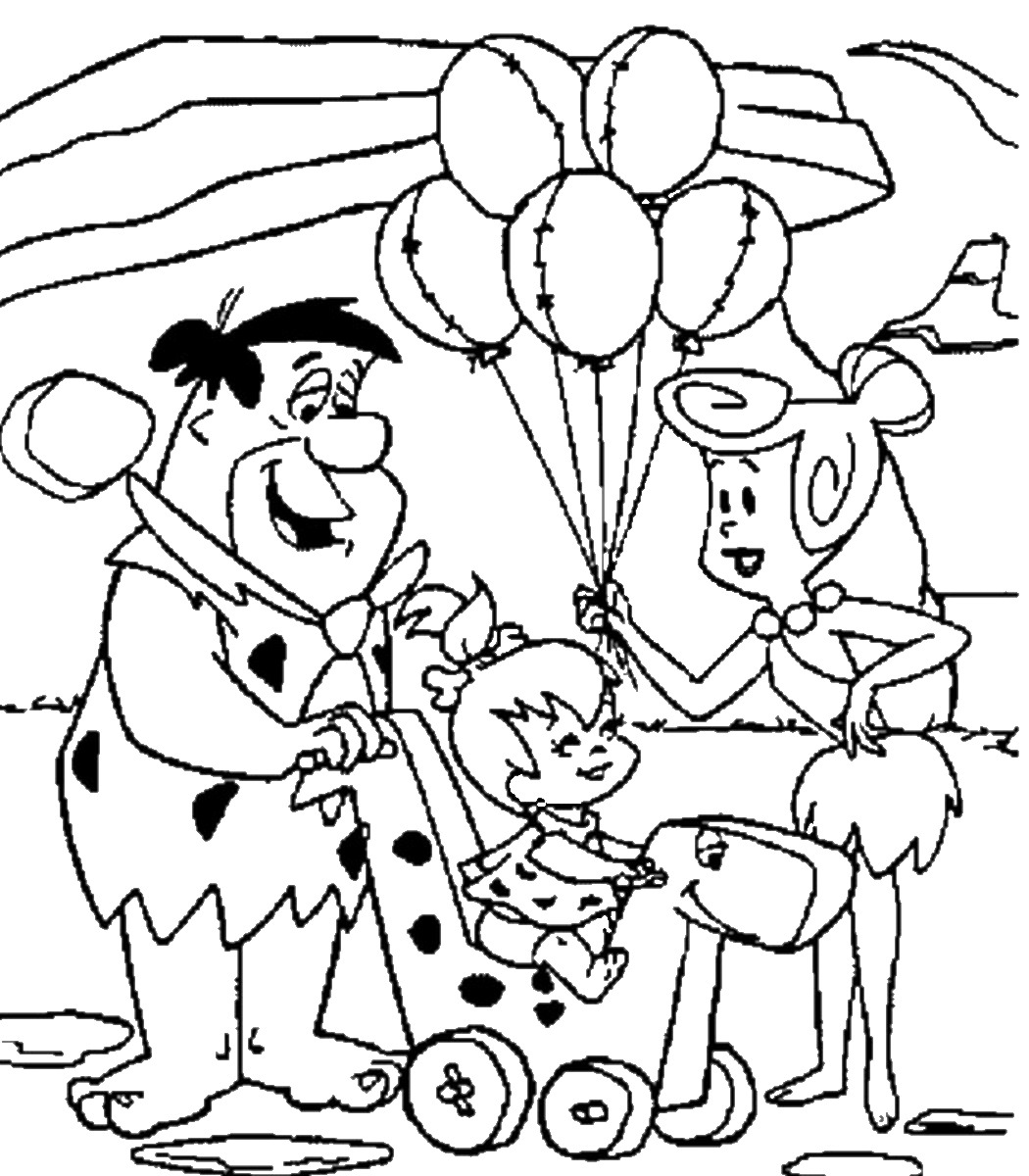 Flintstones coloring pages download