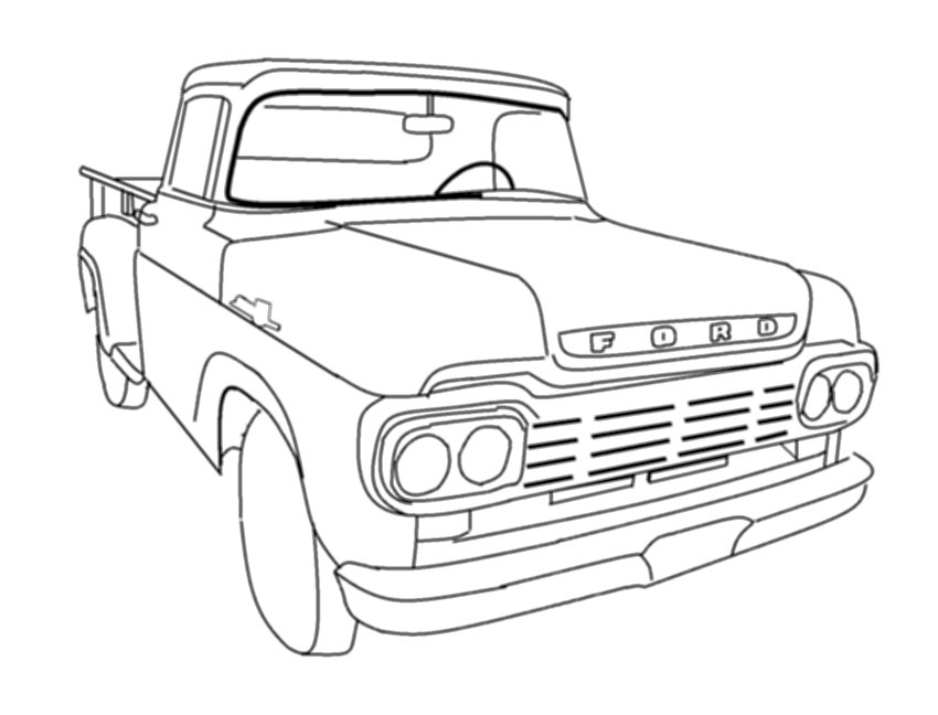 Ford trucks coloring pages download