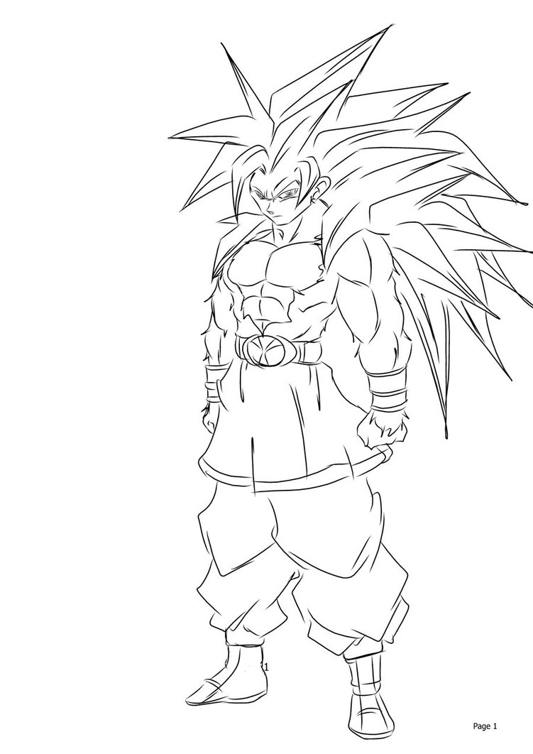 goten coloring pages - photo#12