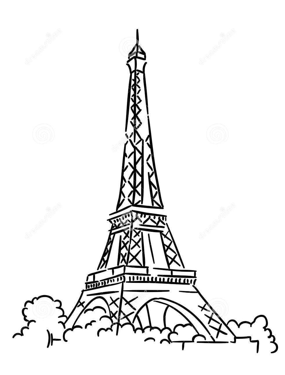 france eiffel tower coloring page - France Eiffel Tower Coloring Page