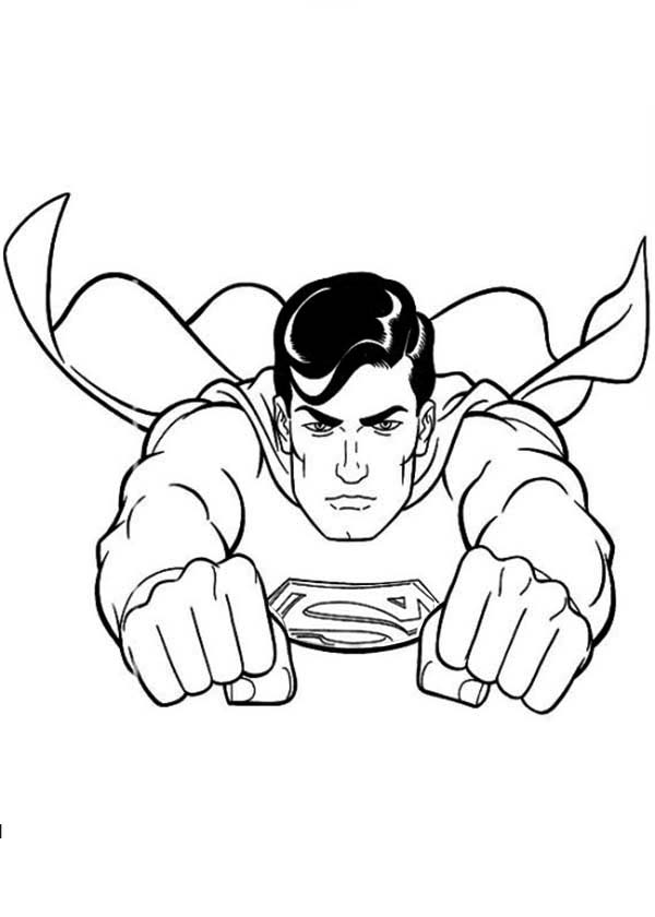 Superman coloring pages to download and print for free for Super man coloring page