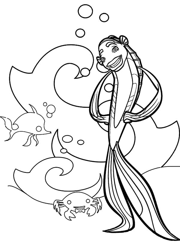 shark tale coloring book pages-#3