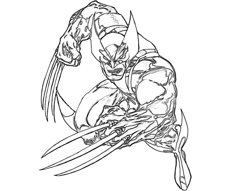 Wolverine coloring pages to download and print for free for Coloring pages for 9 year olds