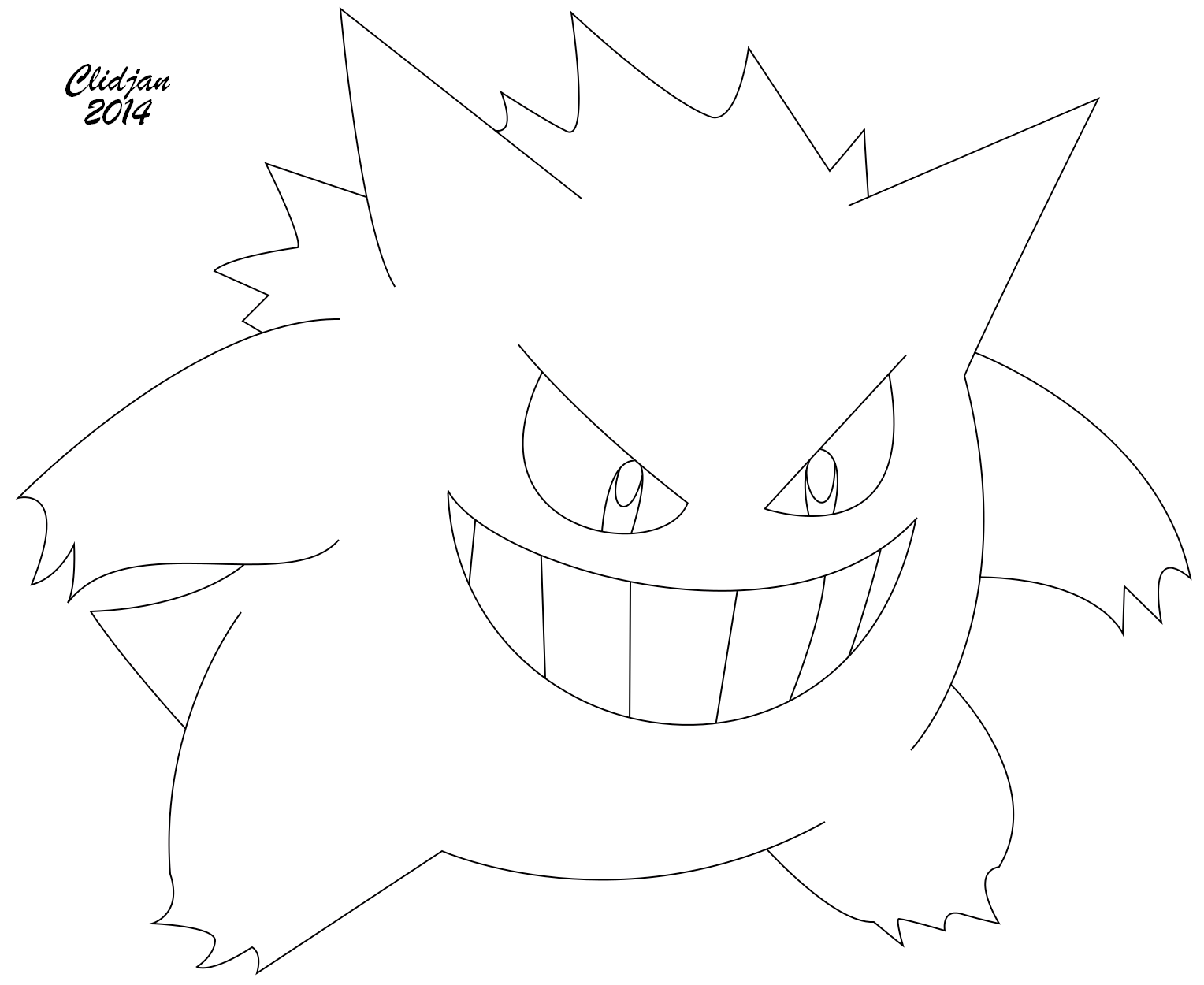 Pokemon coloring pages gengar - Free Gengar Coloring Pages To Print For Kids Download Print And Color