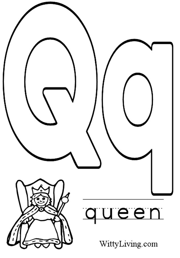 Letter q coloring pages download and print for free