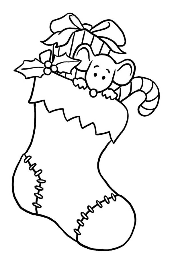 coloring pages christmas stockings - photo#13