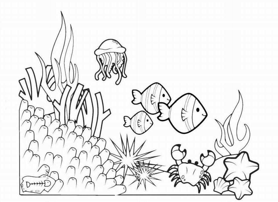 seabed coloring pages to download and print for free